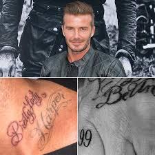 david beckham s tattoos pictures popsugar