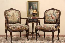 Antique French Armchairs Sold Pair Of Antique 1900 Carved French Chairs Original
