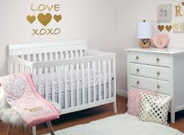 Pink And Gold Nursery Bedding Little Love By Nojo She U0027s So Lovely