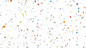party confetti party confetti with shapes seamless looping alpha