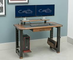 Small Desk Grommet by Loft Desk Black Walnut Caretta Workspace