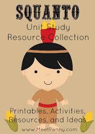 squanto unit study resources meet