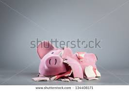 his and piggy bank broken piggy bank stock images royalty free images vectors