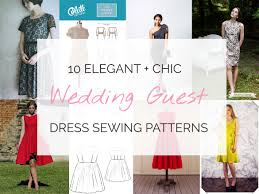 wedding dress sewing patterns 10 chic wedding guest dresses you can sew yourself