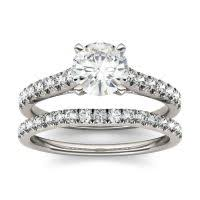 bridal set moissanite bridal sets engagement ring sets charles colvard