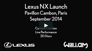 lexus nx logo lexus nx launch with will i am pavillon cambon paris on vimeo