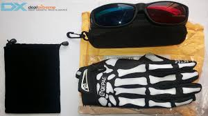 3d anaglyph glasses skeleton gloves from dealextreme youtube