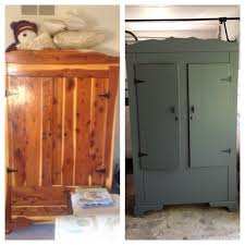 cedar armoire cedar armoire updated with dove grey paint and new hardware love