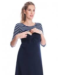 nursing dress sparkle striped nursing dress blue add a nautical touch to your