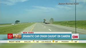 kansas highway crash seen on camera cnn video