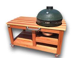 Green Egg Table by Buy A Hand Made Custom Big Green Egg Table Made To Order From