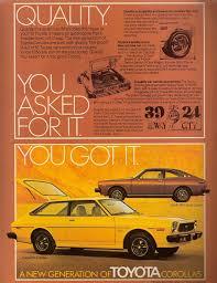 1976 toyota corolla sr5 for sale 1976 toyota corolla sr5 liftback advertisement owned from