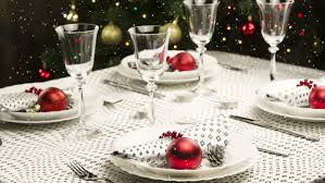 New Years Dinner Table Decorations by Falling Snow New Year And Christmas Decorations Dinner Table