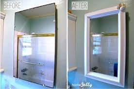 Bathroom Medicine Cabinet Mirror 5 Diy Tips To A Bathroom Mini Makeover Homejelly
