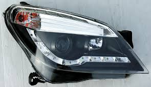 opel astra 2005 tuning opel astra h 04 r8 style led headlights black v1