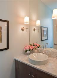 Powder Room With Pedestal Sink White Pedestal Sink Small Powder Room Design Ideas Cool Grey Wood