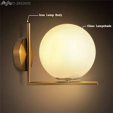 lfh modern globe wall lights u0026lamparas de pared iron bedroom