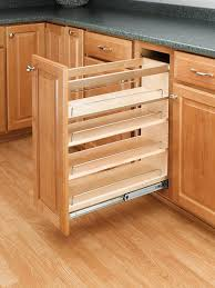 Kitchen Cabinets Spice Rack Pull Out Amazon Com Rev A Shelf 448 Bc 5c 5 In Pull Out Wood Base
