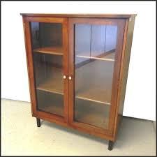 Glass Door Bookshelf Vintage Rishel Glass Door Bookcase Walnut
