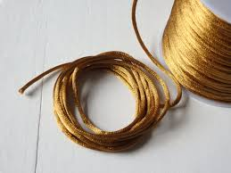 rattail cord 10 yards satin rattail cord in antique gold 2mm satin cord for