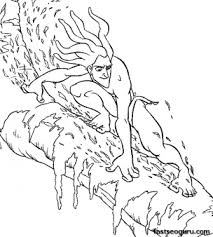 printable disney tarzan coloring pages printable coloring pages