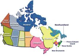 regions of canada map canadian transplant support regions