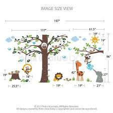 Alphabet Wall Decals For Nursery Playroom Growth Chart Alphabet Tree Decal Nursery Wall Decal