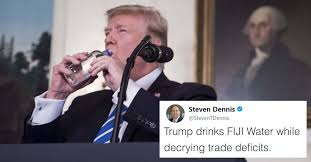 Newest Internet Meme - trump takes a drink is the newest internet meme and we are all