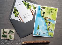 custom wedding programs big sur invitations custom wedding program 4 page wedding