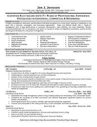 Example Of A Basic Resume by Phenomenal Resume For Electrician 4 Electrician Resume