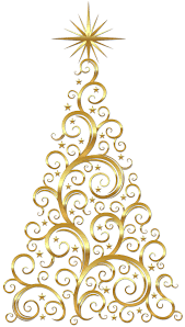 gold scroll christmas tree christmas trees pinterest