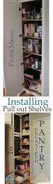 Pantry Cabinet With Pull Out Shelves by Diy Pull Out Shelves We Can Totally Do This Looks Like A Winter
