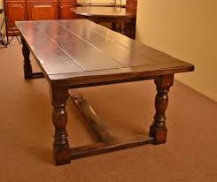 Oak Top Dining Table Solid Oak Refectory Dining Table For Sale At 1stdibs
