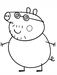daddy pig coloring page free printable coloring pages