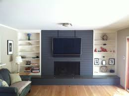 painted brick fireplace blue painted fireplace wall amazing ideas