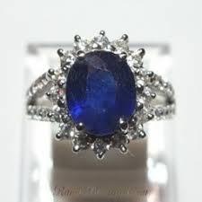 model cincin blue safir cincin wanita silver royal blue sapphire ring 6