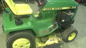 lot 1782a john deere 318 lawn tractor w 48