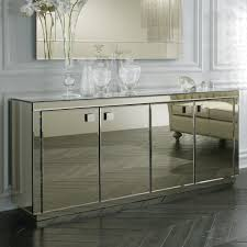 furniture mirrored buffet hayworth mirrored nightstand
