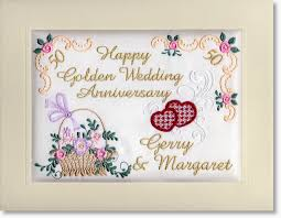 personalised embroidered anniversary cards by moonstone treasures