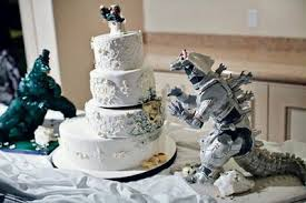 godzilla cake topper godzilla wedding cake my favourite from last sunday s