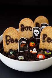 healthier halloween chocolate graveyard