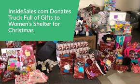 insidesales donates truck of gifts to s shelter for