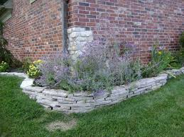 creative flower bed edging with rocks 43 for with flower bed