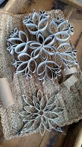 Christmas Tree Decorations To Make Out Of Paper How To Make Cheap Snowflakes Out Of Toilet Paper And Paper Towel