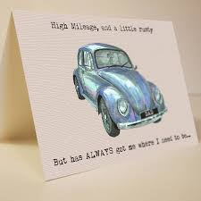 classic car card by house notonthehighstreet
