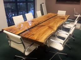 Pool Table Conference Table Custom Made 10 Live Edge Conference Table By Argos Furniture Co