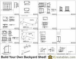 Diy Lean To Storage Shed Plans by 5x10 Lean To Shed Plans Lean To Shed Plans To Build From