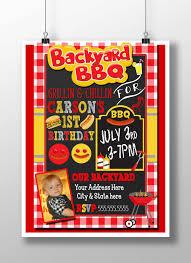 bbq birthday invitation bbq 1st birthday backyard bbq party