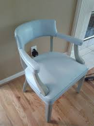 Leather Kitchen Chair Annie Sloan Chalk Paint Painted Leather Chair Louis Blue French