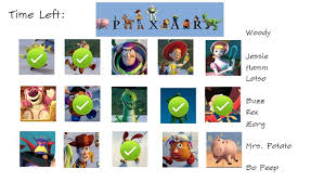 toy story characters pictures names